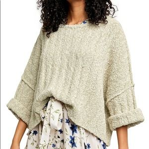 Free People Good Day Palm slouchy chunky knit pullover size S